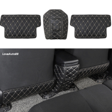 цена на Car Rear Seat Anti-Kick Pad Rear Seats Cover Back Armrest Protection Mat For Toyota RAV4 RAV-4 2014 2015 2016 2017 2018 2019