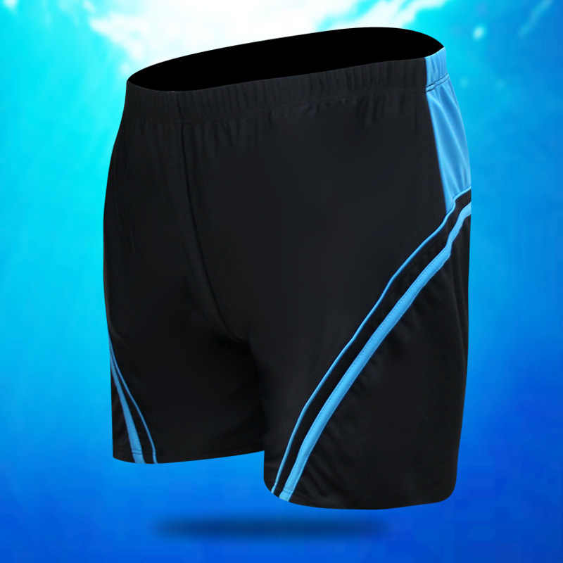 Swimming Trunks Male Fifth Pants Quick-Dry Mid-length Fashion Boxer Loose-Fit Beach Adult Large Size Men Swimwear Shorts