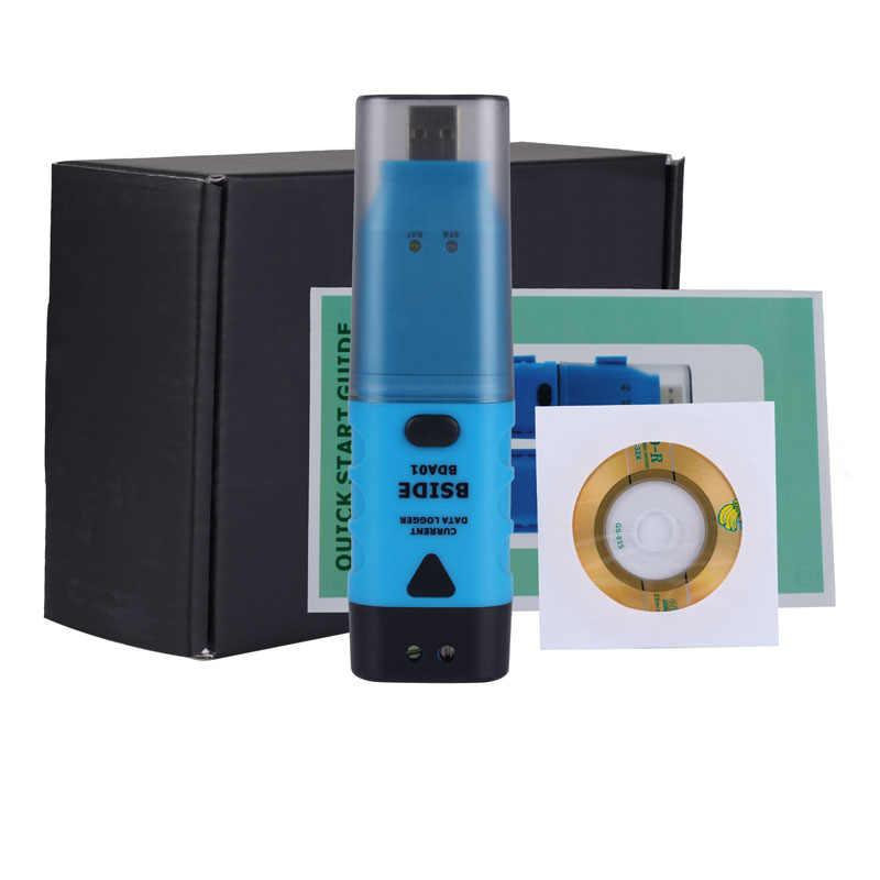 BDA01 Dữ Liệu Logger 0.05mA Độ Phân Giải ĐÈN LED Báo Động 64K Nhớ 4-20mA Tín Hiệu Thu Âm Di Động DC Hiện Tại BSIDE USB