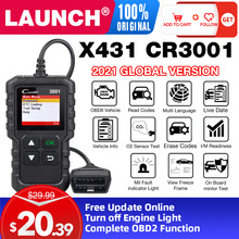 LAUNCH X431 CR3001 obd2 전문 자동차 스캐너 OBDII 코드 리더 자동차 진단 도구 엔진 무료 업데이트 pk elm327 끄기