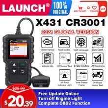 Uruchomienie X431 CR3001 obd2 profesjonalny skaner diagnostyczny kod OBDII czytnik samochodowe narzędzia diagnostyczne wyłączeniu silnika bezpłatna aktualizacja pk elm327