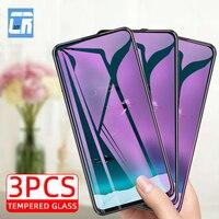 Protector de pantalla de cristal templado para móvil, cristal templado antiluz azul para huawei p40 lite nova 8 se y9s y8s y9a y7a, honor 30i 20 10 9x 8x x10, 3 unidades