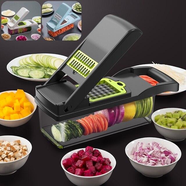 Cortador multifuncional, cortador multifuncional para cozinha, ralador, descascador e ralador, de vegetais, batata, cenoura, frutas, acessórios de cozinha 1