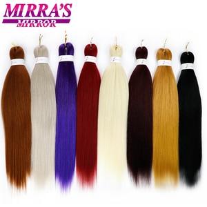 Image 2 - ミラのミラー簡単事前延伸ジャンボ組紐髪オンブル編組毛延長合成かぎ針髪