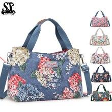 Weekend Travel Tote Bag Hot-selling Women Handbags Printing Flower Fashionable Female Shopping Shoulder Bags Handbag