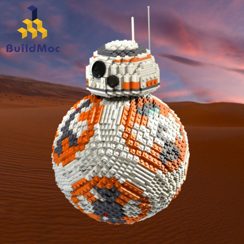 BuildMoc New <font><b>Star</b></font> <font><b>Wars</b></font> <font><b>Bb8</b></font> Robot Starfighterr Technic with Figures Model Starwars Building Block Bricks Toys 75187 Gift Kid Boys image