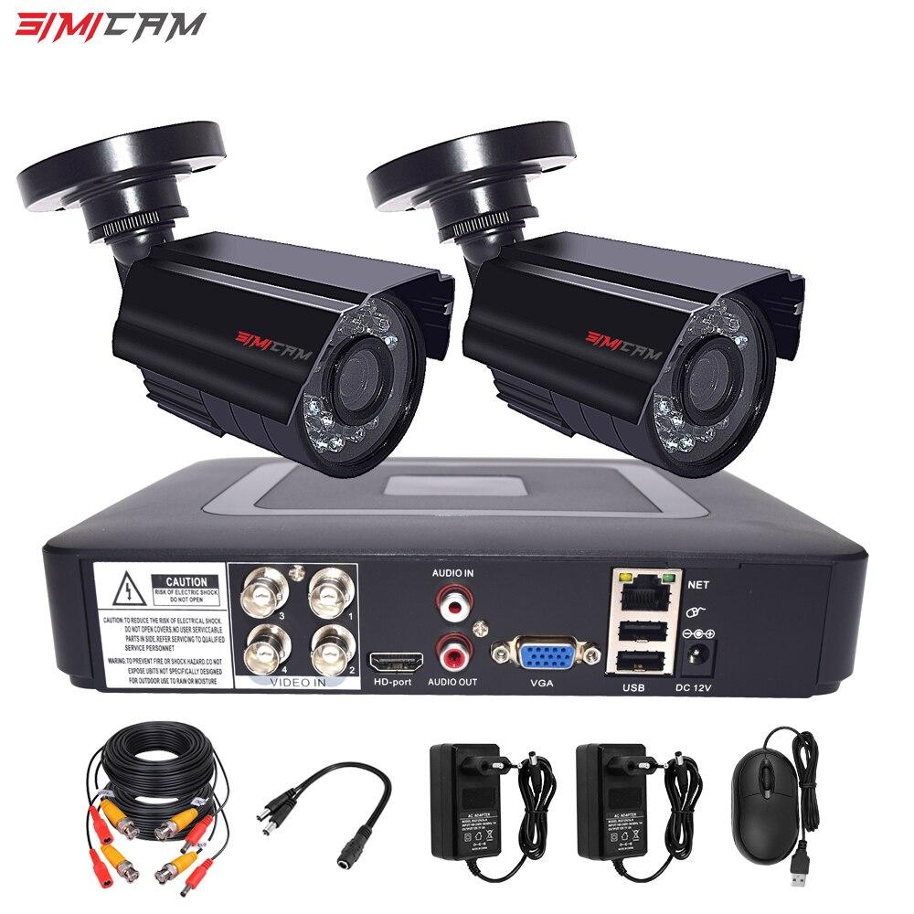 4CH 1080p DVR Kit Security Camera Cctv Security System 2 AHD Camera Surveillance Waterproof Night Vision Video Surveillance Set