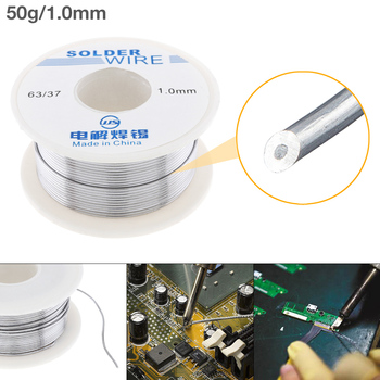 63/37 50g 1.0mm No Clean Rosin Core Solder Tin Wire Reel Tin Lead Wire w/ 2% Flux Low Melting Point for Electric Soldering Iron aoud line парфюмерная вода 2мл