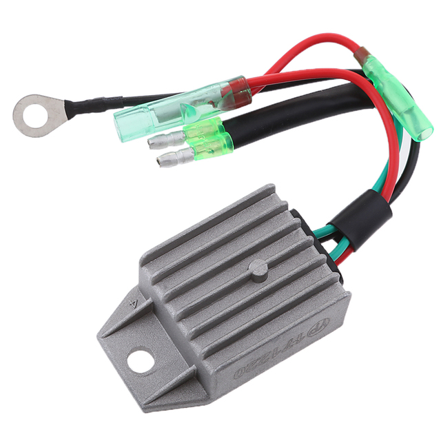 Boat Voltage Rectifier Regulator Fits for Yamaha 15HP 2-Stroke Motor Outboard Engines, Gray 2