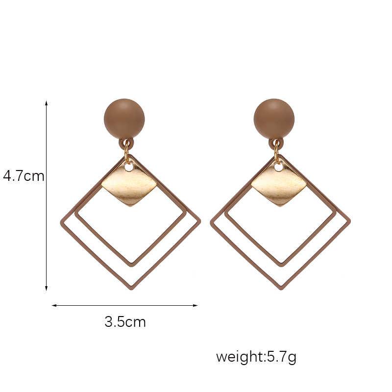 2019 nova moda bohemia jewlery coreano metal geométrico ouro pendurado balanço brinco do vintage brincos de gota para as mulheres