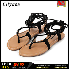 Eilyken Women Cross strap Knee high Summer Roman Gladiator Sandals