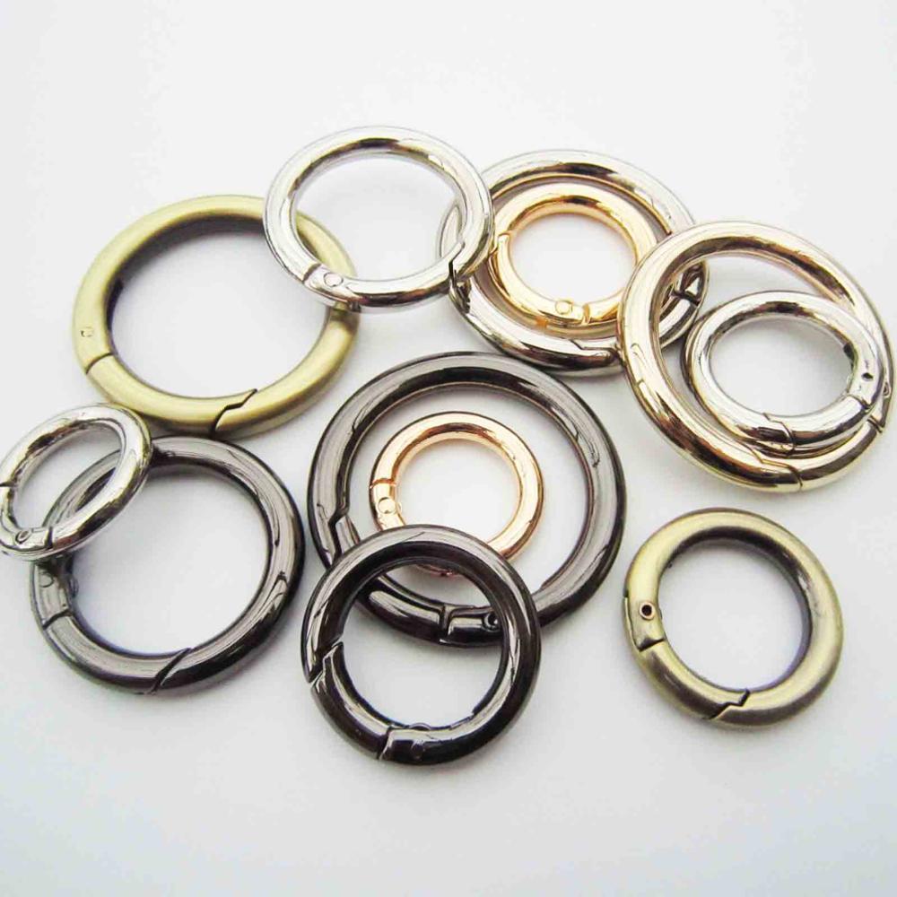 Anillo de Metal para portón de perro, anillo ovalado, bolsa de cuero, correa de cinturón, hebilla, cadena de cierre de presión, Clip disparador, equipaje, Leathercraft
