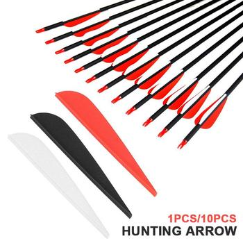 Hunting Vanes Tail Feather Arrows Archery Wing 3 7.5CM Feathers Wing Shield Plastic Sports Fletching image