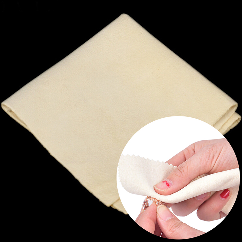 Silver Polish Cloth Retail Jewelry Polishing Silver Burnishing Buffing Gold Clean Tool Jewelry Cleaner Rub 150x150mm