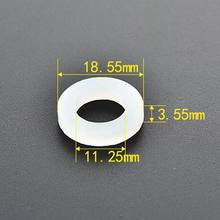 "10Pcs/Lot 1/2"" Black White Rubber Silicon Flat Gasket Sealing Ring for Shower Pipe Tube(China)"