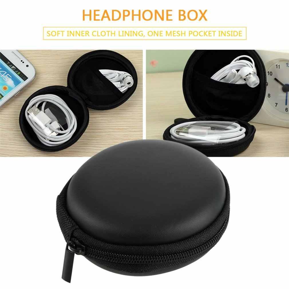 2017 New Arrival 1 sztuk trwałe trzymać Case czarny schowek torba noszenie twarda torba Box na słuchawki słuchawki douszne karty łatwe podróży
