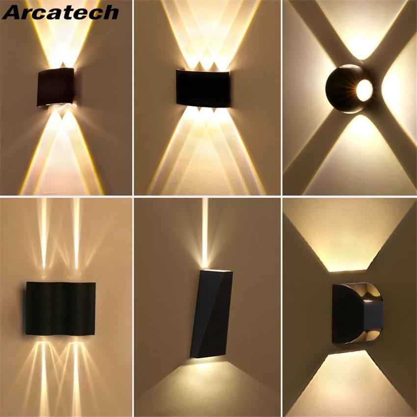 Outdoor Waterproof IP65 Wall Lamp  LED Wall Light Modern Indoor/Outdoor Decor Up Down Dual-Head Aluminum Wall Lamp NR-137