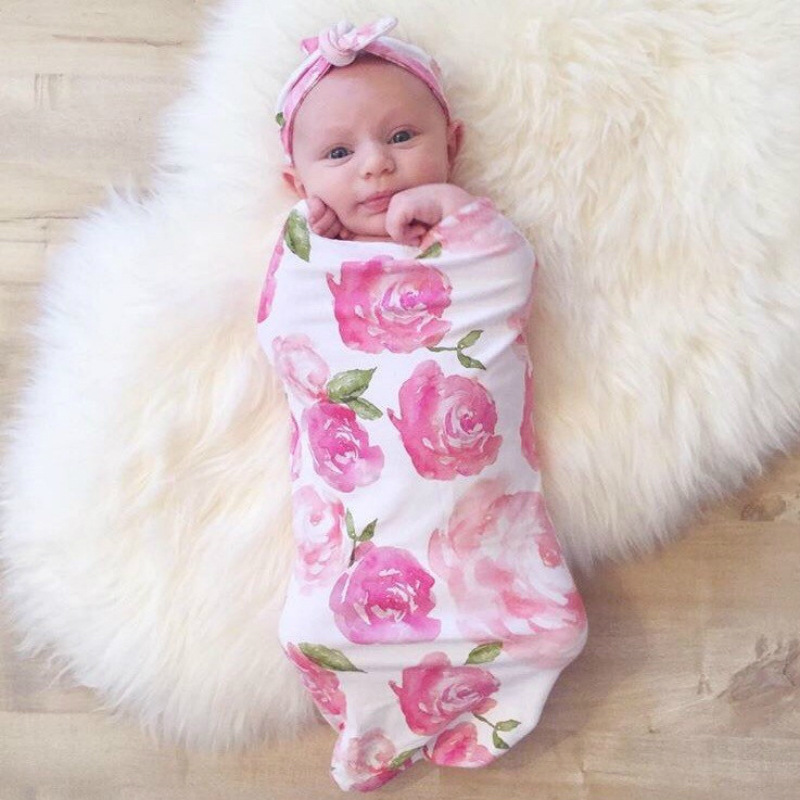 2 In 1 Baby Sleeping Bag Rabbit Ears Hair Band Set For 0-3 Months Newborn Clothes Anti-kick Baby Toys Romper Sleeping Blanket