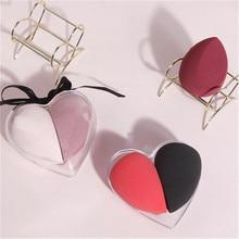 Makeup Sponge Puff-Powder Foundation-Use Beauty Cosmetic Heart-Shape-Box Non-Latex-Material