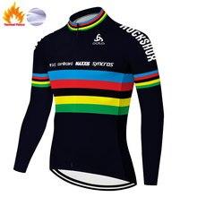Equipe scottes-rc jérsei ciclismo 2020 manga longa inverno térmica velo bicicleta roupas de ciclismo jérsei para homem