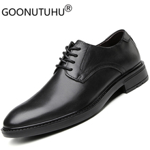 2019 new men's dress shoes genuine leather male classic black lace up shoe man elegant office work formal shoes for men hot sale hot sale autumn lace up square toe men dress shoes black leather shoes luxury male casual shoes man office feast formal shoes