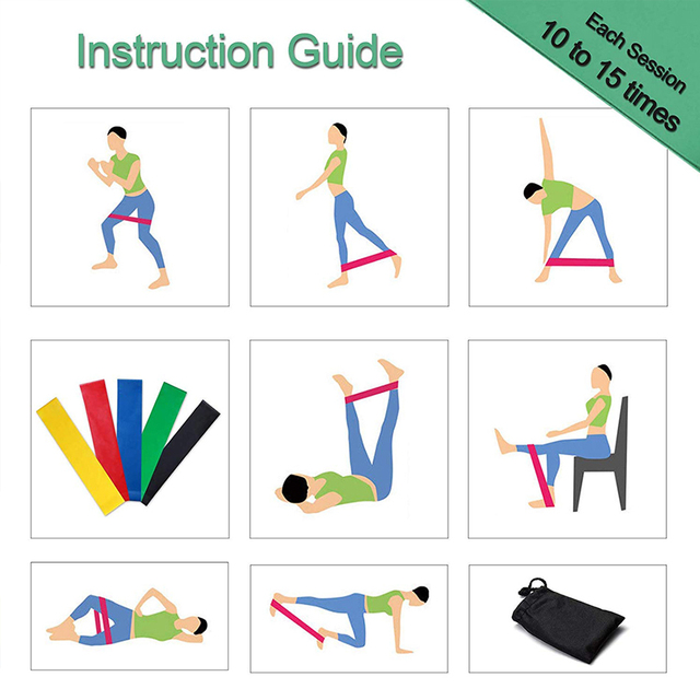 Resistance Bands Set Heavy Elastic Bands for Fitness Training Workout Rubber Loop for Sports Yoga Pilates