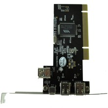 PCI FireWire IEEE 1394 3 + 1 Port Karte + 4/6 Pin Kabel(China)