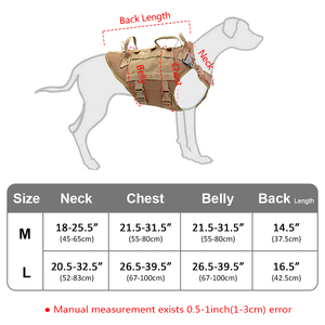 Image 5 - Duurzaam Nylon Hond Harnas Tactische Militaire K9 Werken Hond Vest Geen Pull Pet Training Harnassen Vest voor Medium Grote Honden M L