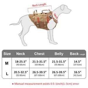 Image 5 - ทนทานไนลอนสายรัดสุนัขยุทธวิธีทหารK9 ทำงานเสื้อกั๊กสุนัขไม่มีดึงการฝึกอบรมสัตว์เลี้ยงHarnessesเสื้อกั๊กสำหรับสุนัขขนาดกลางขนาดใหญ่M L