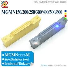EDGEV 10PCS Einstechen Hartmetall Einfügen MGMN150 MGMN200 MGMN250 MGMN300 MGMN400 MGMN500 MGMN600 MGMN CNC Drehen Werkzeuge NC3020 PC9030