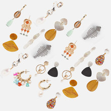 New Acrylic ZA Fashion Earrings for Women 2019 Boho Statement  Luxury Jewelry Accessories Gift Party Wedding Wholesale