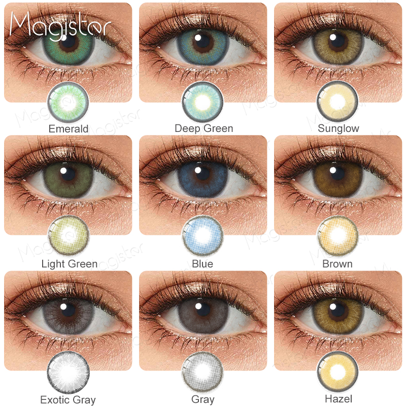 2pcs/Pair Contact Lenses Colored Contact Lenses for Eyes Colored Yearly Blue Brown Colorful Beauty Eye Contact Lenses Eye Color 1