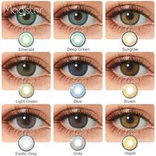 2 sztuk para soczewki kontaktowe kolorowe soczewki kontaktowe do oczu kolorowe roczne niebieskie brązowe kolorowe soczewki kontaktowe do oczu tanie tanio PINK MAGIC CN (pochodzenie) 14 0-14 2 Dwa kawałki 0 06-0 15 mm PHEMA Piękna źrenica Contact Lenses Blue Brown Green China