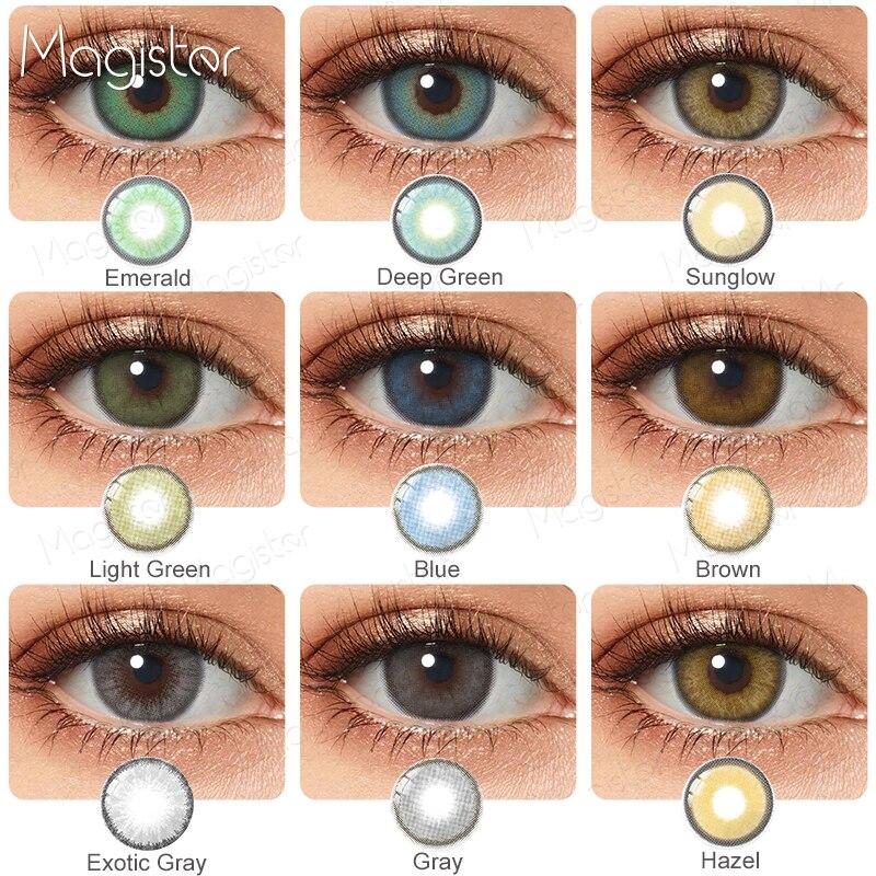 2 шт./пара контактные линзы Цвет ed контактные линзы для глаз Цвет ed ежегодно, синего и коричневого цветов Цвет Фул Красота цветные контактные...