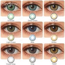 2 unids/par-lentillas de colores para ojos, lentillas de contacto para ojos de colores azul, marrón, coloridas, de belleza para ojo