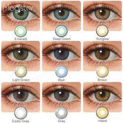 2pcs/Pair Contact Lenses Colored Contact Lenses for Eyes Colored Yearly Blue Brown Colorful Beauty Eye Contact Lenses Eye Color