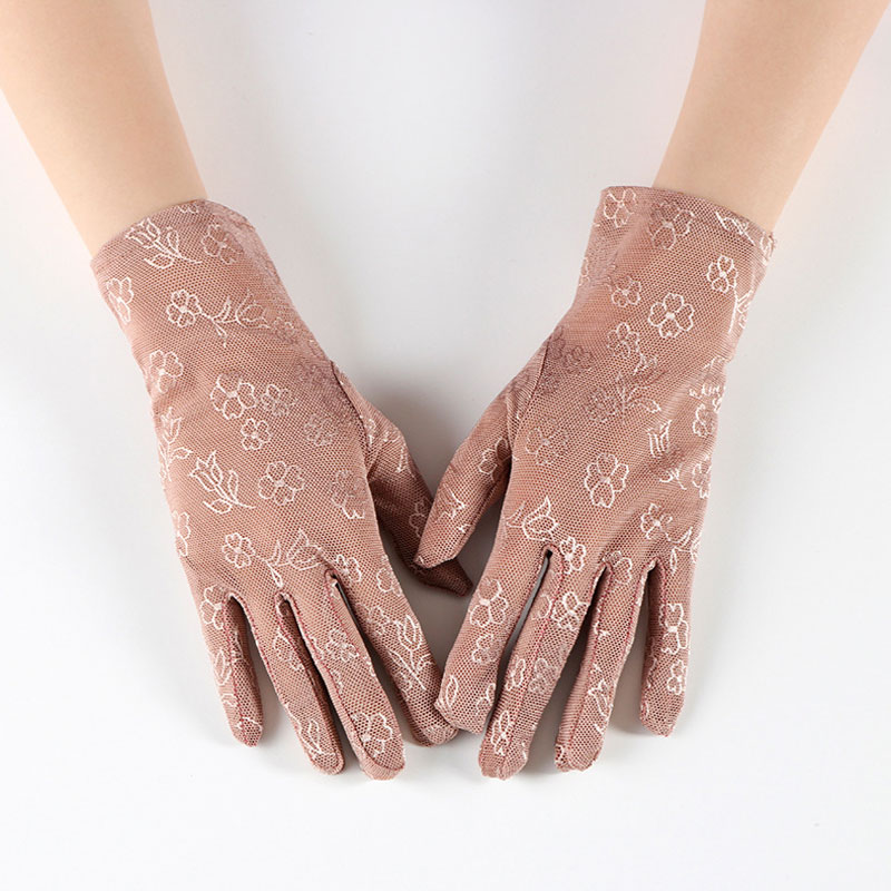 Women Lace New Thin Short Gloves Ladies Summer Sunscreen Embroidery Elastic Fashion Driving Uv Protection High Quality Gloves