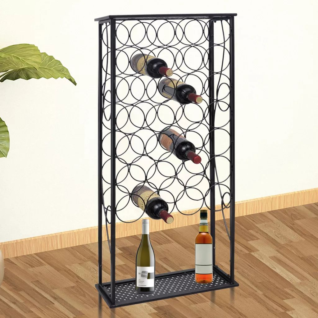 VidaXL Wine Rack For 28 Bottles Metal