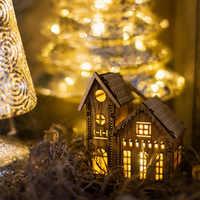DIY casa LED luz Santa Claus muñeco de nieve Feliz Navidad decoración para casa adornos para árbol Navidad Noel regalo de Navidad Año Nuevo 2020