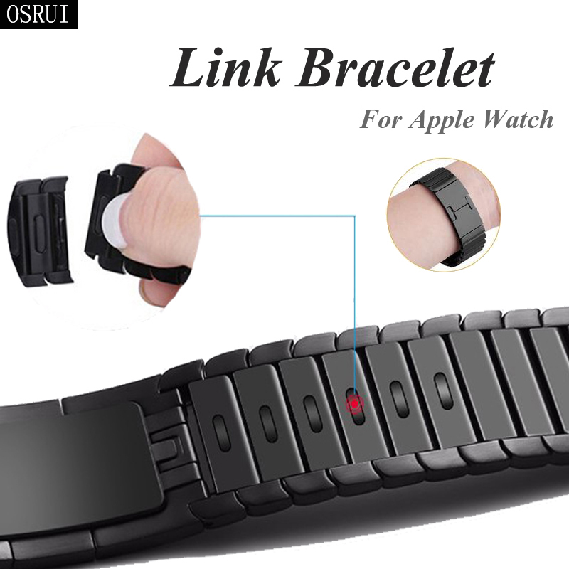 Strap For Apple Watch 4 Correa Iwatch Band 44mm 40mm 42mm 38mm 3 2 316L Stainless Steel Link Bracelet Pulseira Watch Accessories