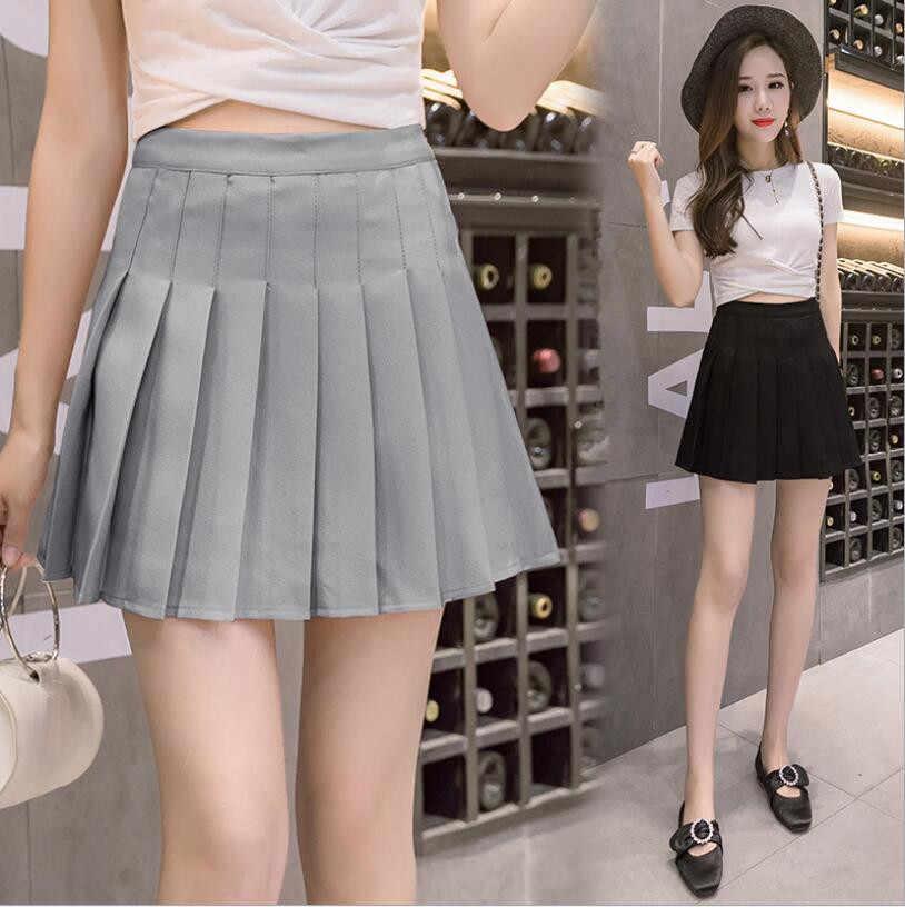 Damska japonia wysokiej zwężone plisowane kostiumy Cosplay spódnice moda Mini spódnica do tańca guzik boczny wysokiej talii spódnice szkolne kobiet