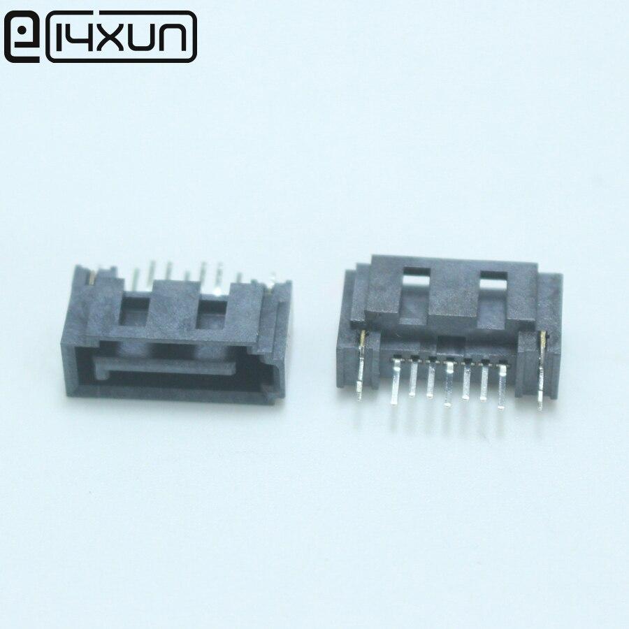 EClyxun 5 шт. SATA 7P Вертикальная Розетка интерфейс жесткого диска тип A Разъем