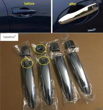 Lapetus Accessories Fit For Renault Kadjar 2016 2017 2018 Outside Door Pull Doorknob Hand-clasping Handle Molding Cover Kit Trim lapetus 2 color for choice accessories for renault kadjar 2016 2017 2018 abs front pillar a triangle molding cover kit trim