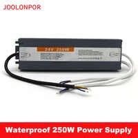 Transformador de controlador de LED electrónico a prueba de agua, CA de 220V a CC de 24V, 10A, 240W, 250W, fuente de alimentación conmutada IP67 para iluminación exterior