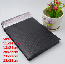 20pcs/lot,Small Bubble Envelopes Bags,Matte black Mailers Padded Shipping Envelope With Bubble,Mailing Bag,Business Supplies(China)