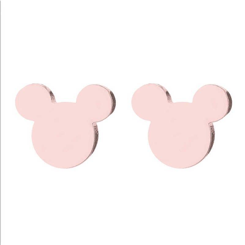 Cartoon Mickey Stud Ohrringe für mädchen Maus Earing Edelstahl Ohrring Nette Tier Ohr Stud Weihnachten Geschenk für frauen