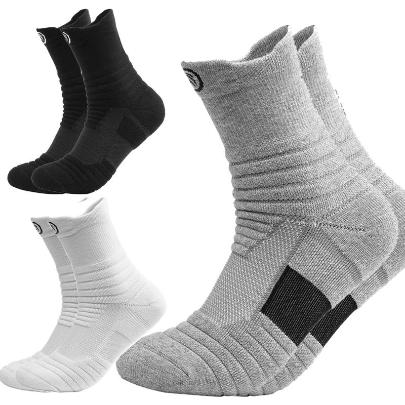 Lauf Sport Basketball Socken Atmungsaktiv Feuchtigkeit Wicking Sportlich Socke Lang Kurz Stil Schweiß Deodorant Sox Männer Frühling Winter