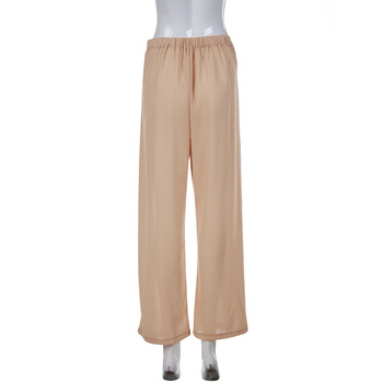 2020 European and American women's solid color sk casual loose breathable trousers 1035