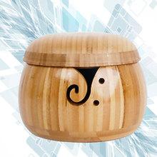 Kreatywna miska trwała miseczka bambusowa miska przędzy szydełka wełna organizator z pokrywą dla domu (styl losowy) tanie tanio CN (pochodzenie) yarn storage crochet yarn storage crochet storage knitting bowl yarn storage bowl crochet browl