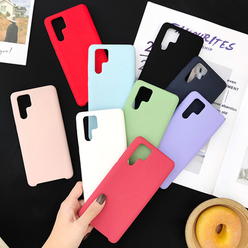 Liquid Silicone Case For Huawei P30 Lite Case Cover Microfiber Lining Case For Huawei P30 P40 Pro Mate 20 30 Lite Honor 20 10i